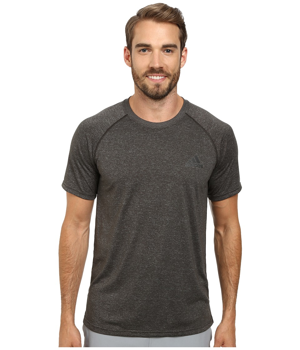 adidas - Ultimate S/S Crew Tee (Dark Grey Heather/Black) Men's T Shirt