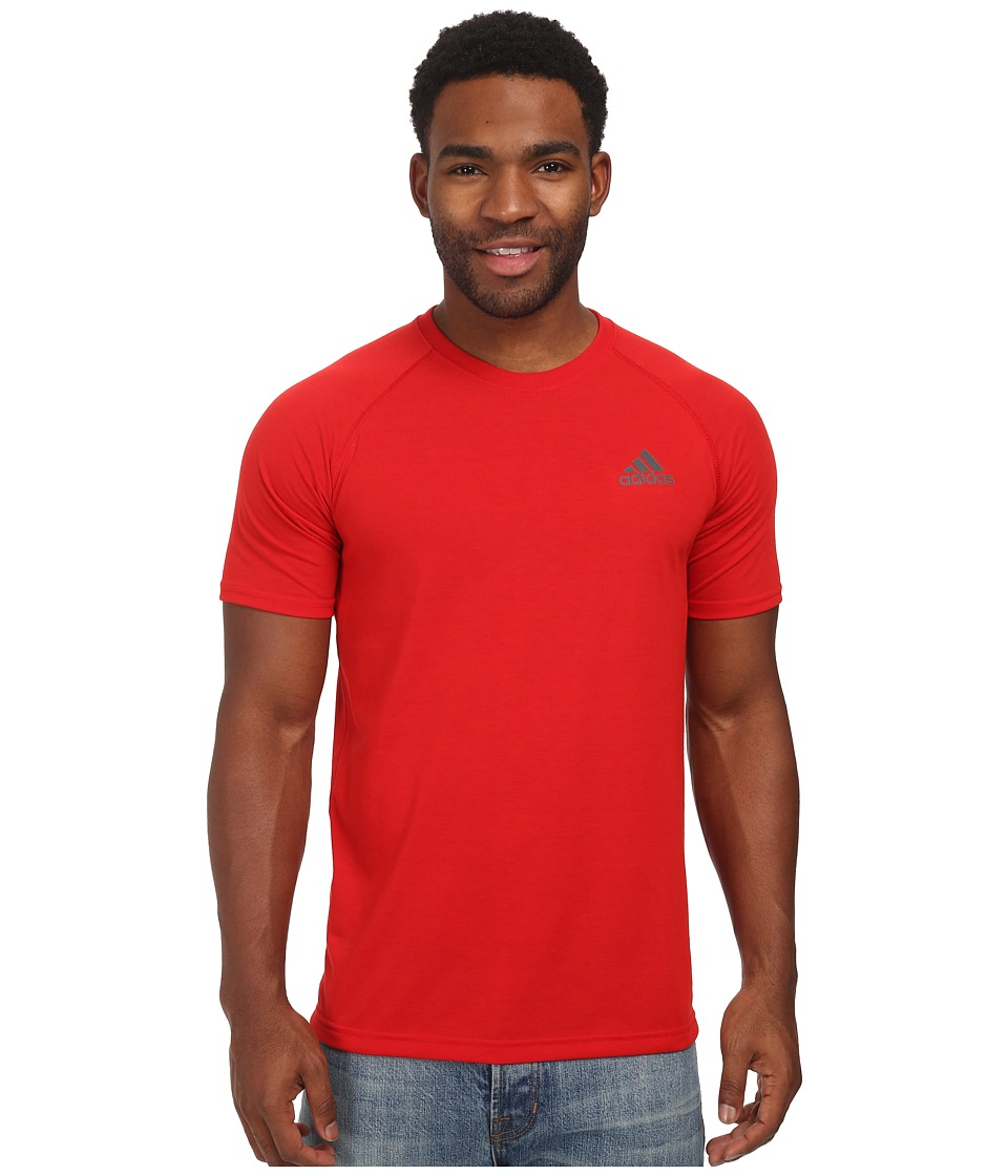 adidas - Ultimate S/S Crew Tee (Scarlet/DGH Solid Grey) Men's T Shirt