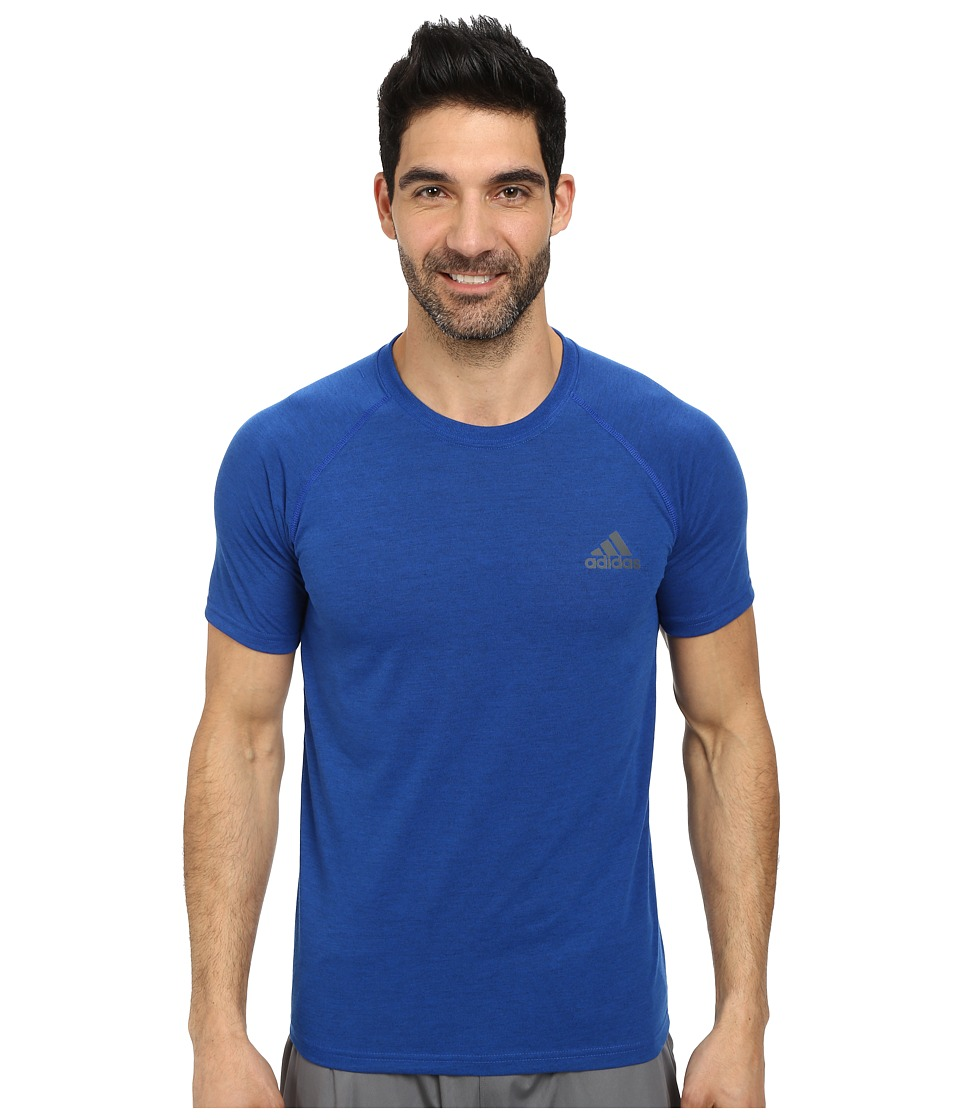 adidas Ultimate S/S Crew Tee (Collegiate Royal Heather/DGH Solid Grey) Men