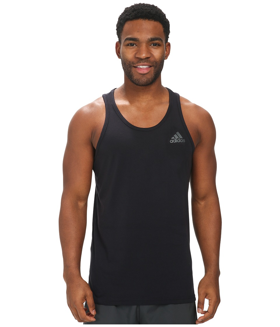 adidas - Ultimate Tank (Black/DGH Solid Grey) Men's Sleeveless