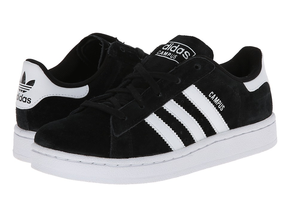 adidas Originals Kids - Campus 2 (Little Kid) (Black/White/Black) Kids Shoes