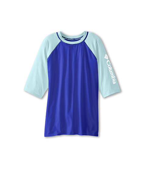 Columbia Kids - Mini Breaker II S/S Sunguard Top (Little Kids/Big Kids) (Light Grape/Candy Mint/White) Girl