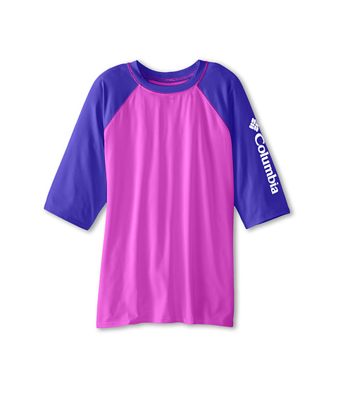 Columbia Kids - Mini Breaker II S/S Sunguard Top (Little Kids/Big Kids) (Foxglove/Light Grape/White) Girl