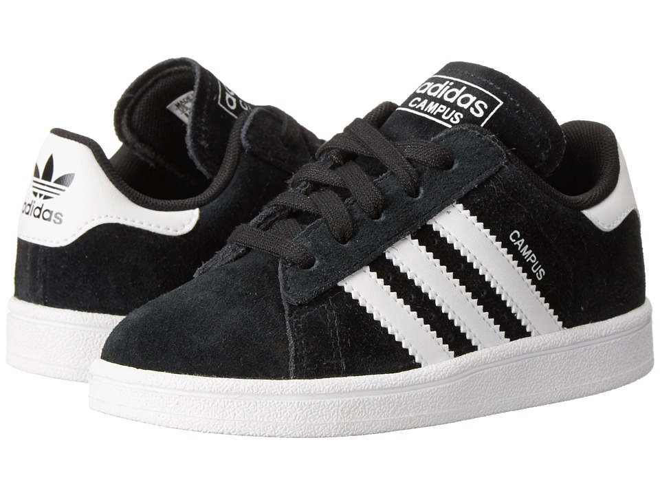 adidas Originals Kids - Campus 2 (Toddler) (Black/White/Black) Kids Shoes