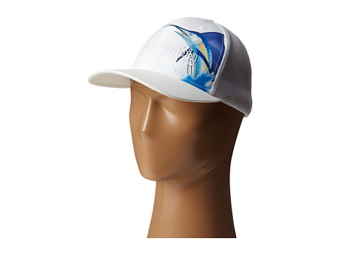 Columbia - PFG Mesh Ball Cap (White/Marlin Fish) Caps
