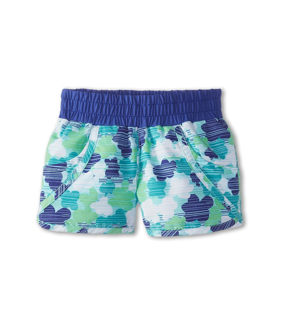 Columbia Kids - Solar Stream II Boardshort (Little Kids/Big Kids) (Chameleon Green Print/Light Grape) Girl's Swimwear