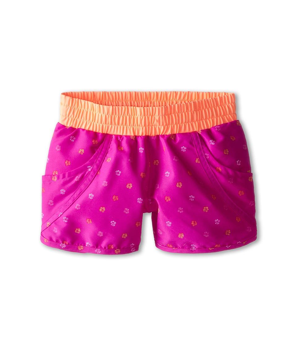 Columbia Kids - Solar Stream II Boardshort (Little Kids/Big Kids) (Foxglove Print/Coral Glow) Girl's Swimwear