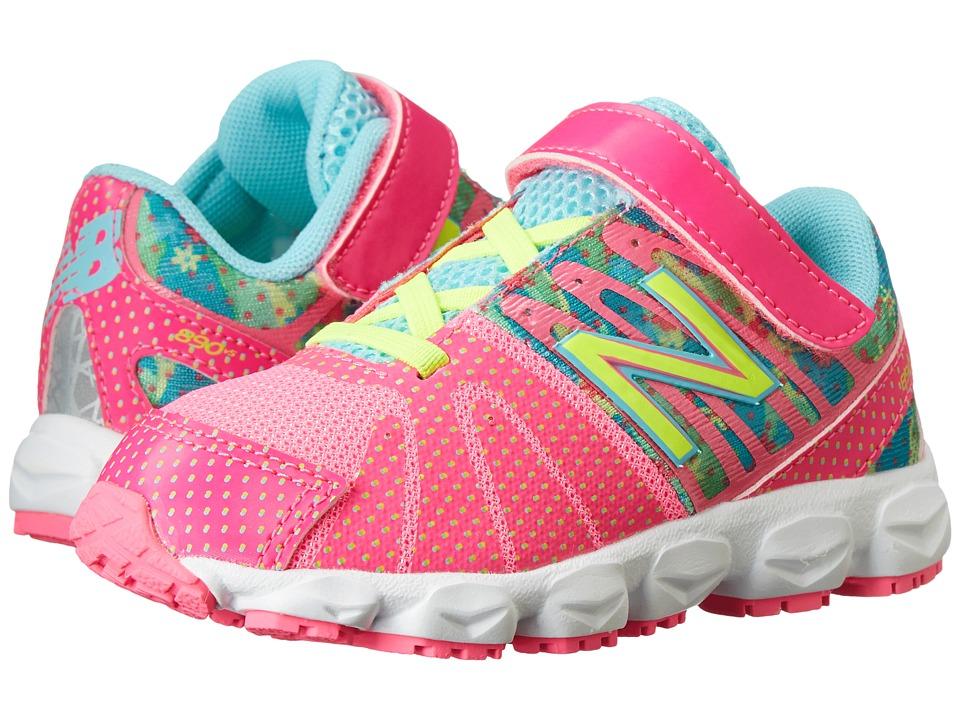 New Balance Kids - 890v5 (Infant/Toddler) (Green/Pink) Girls Shoes
