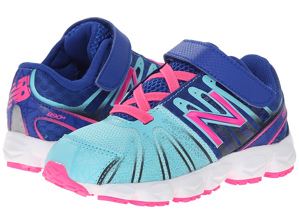 New Balance Kids - 890v5 (Infant/Toddler) (Blue/Pink) Girls Shoes