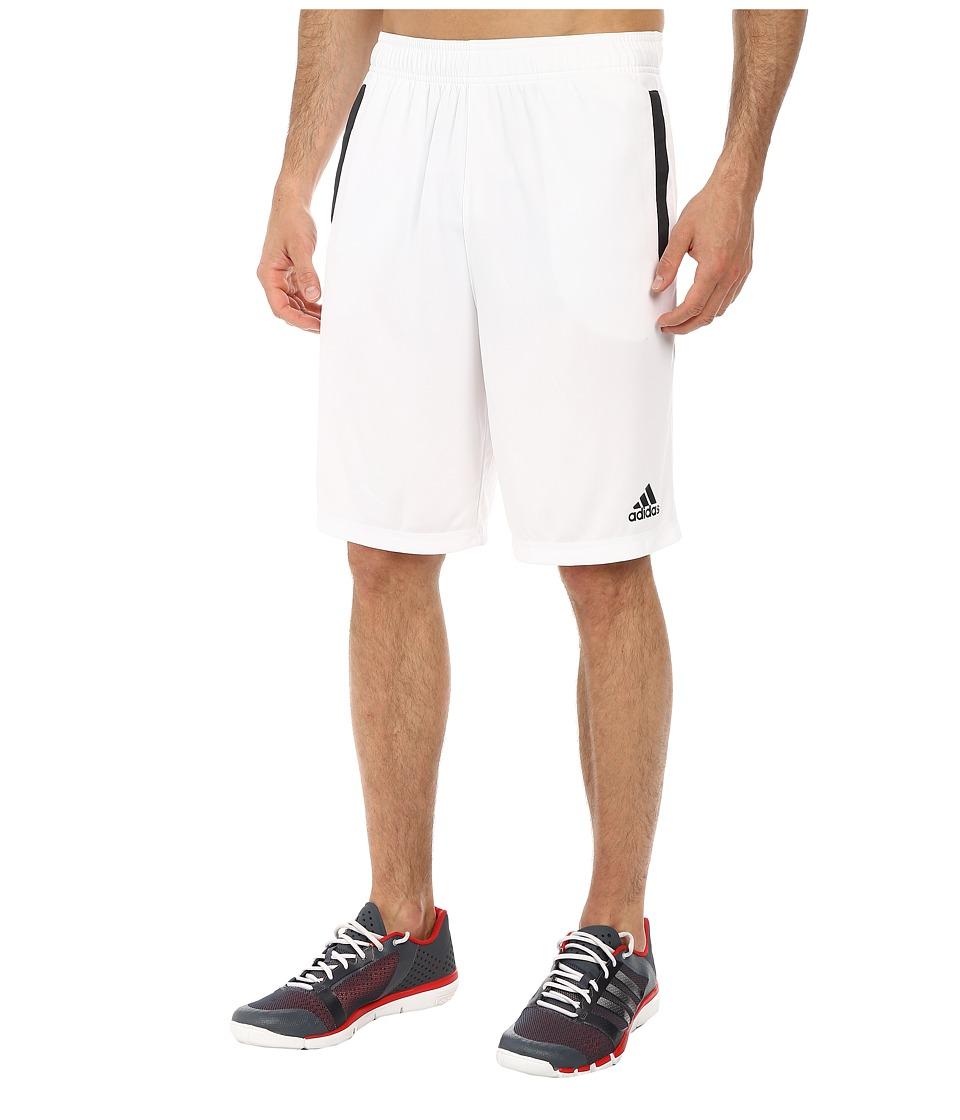 adidas - Ultimate Force 4 Shorts (White/Dark Grey) Men