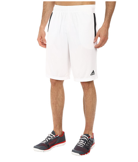 adidas - Ultimate Force 4 Shorts (White/Dark Grey) Men