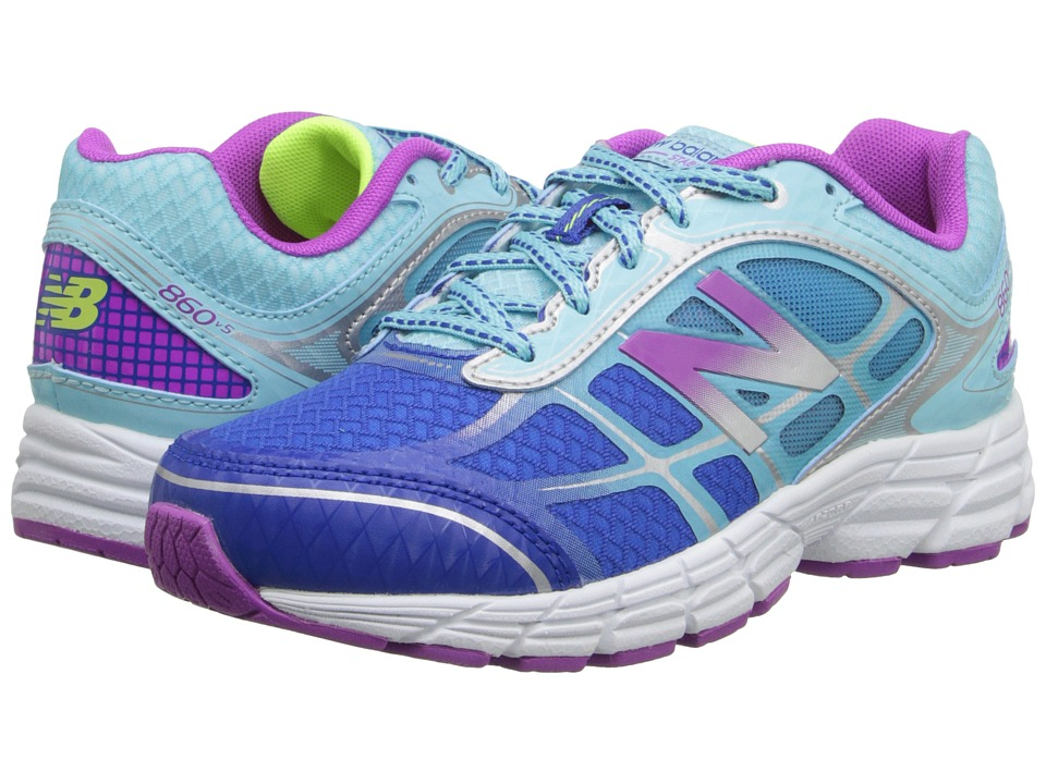 New Balance Kids - 860v5 (Little Kid/Big Kid) (Blue/Purple) Girls Shoes