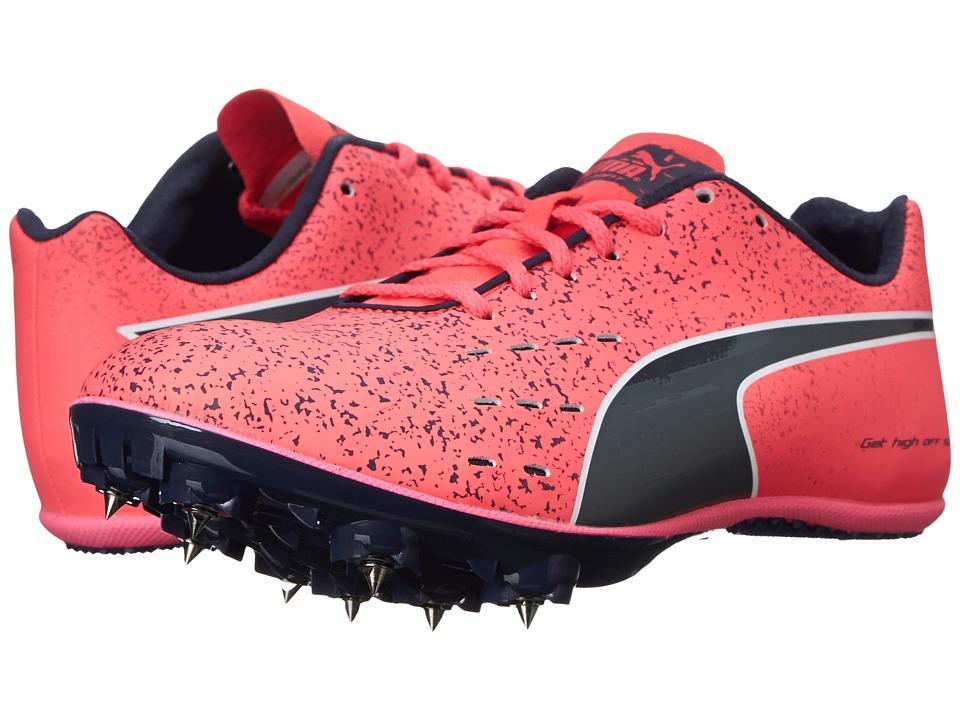 Puma Kids - TFX Sprint v5 Junior (Little Kid/Big Kid) (Fluorescent Pink/Black) Girls Shoes