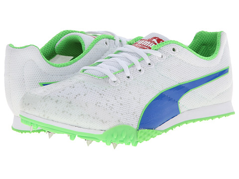 Puma Kids - TFX Star Jr v3 (Little Kid/Big Kid) (White/Strong Blue/Fluorescent Green) Boys Shoes