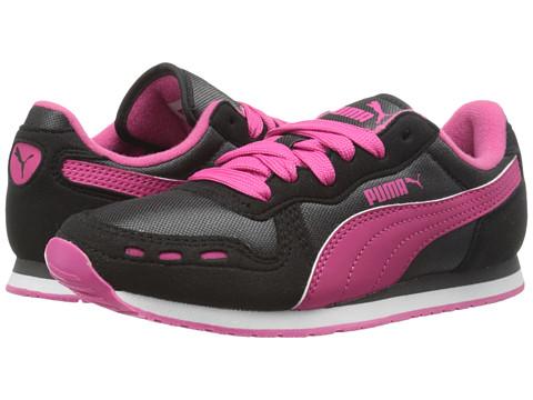 Puma Kids - Cabana Racer Mesh Jr (Little Kid/Big Kid) (Black/Dark Shadow/Beetroot Purple) Girl's Shoes