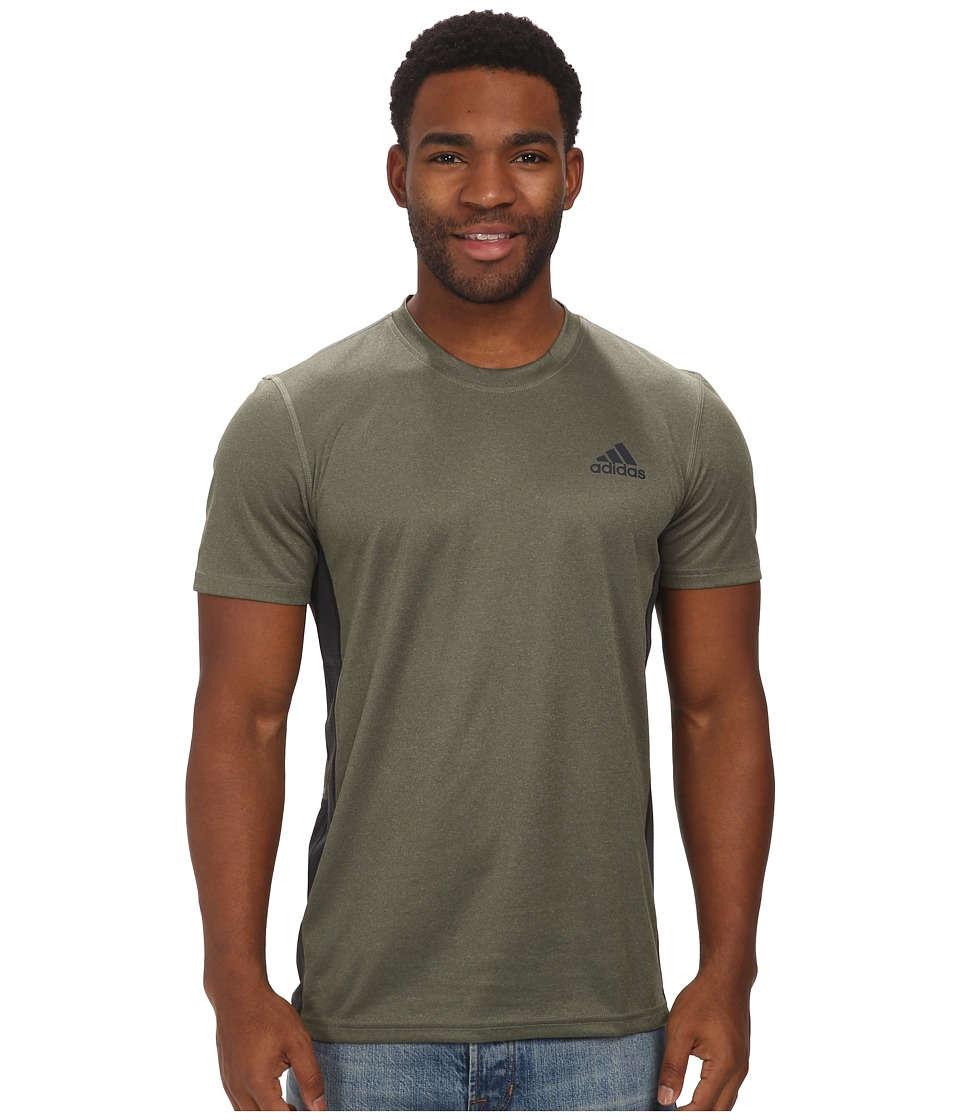 adidas - Climacore S/S Tee (Base Green/Dark Grey) Men's T Shirt