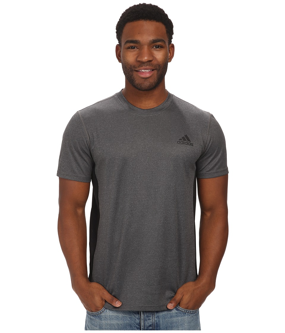 adidas Climacore S/S Tee (Dark Grey Heather/Black) Men