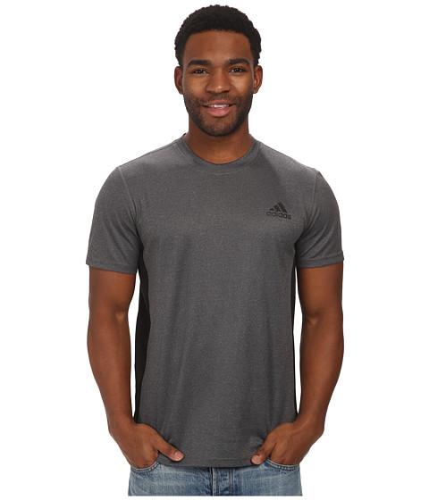 adidas - Climacore S/S Tee (Dark Grey Heather/Black) Men