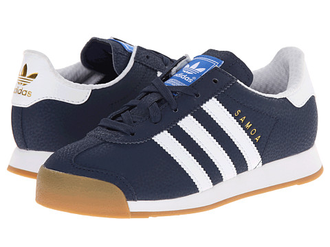 adidas Originals Kids - Samoa (Little Kid) (Collegiate Navy/White/Metallic Gold) Boys Shoes
