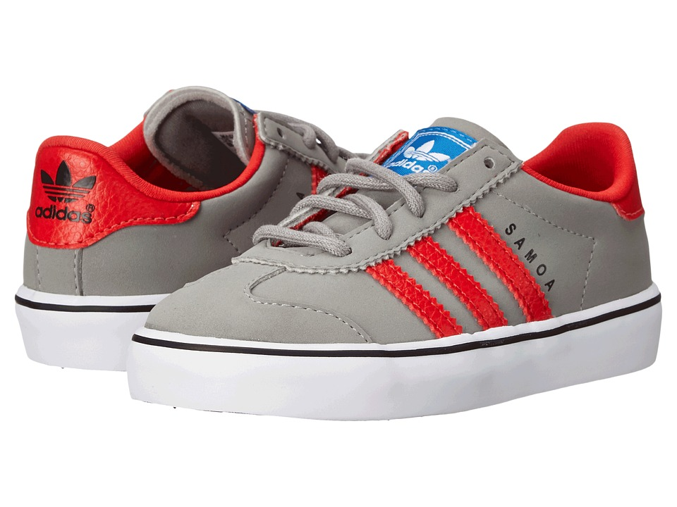 adidas Originals Kids - Samoa Vulc (Toddler) (Solid Grey/Red/White) Boys Shoes