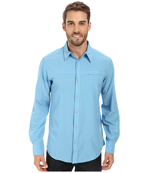 Marmot - Goat Peak L/S (Crystal Blue) Men's Long Sleeve Button Up