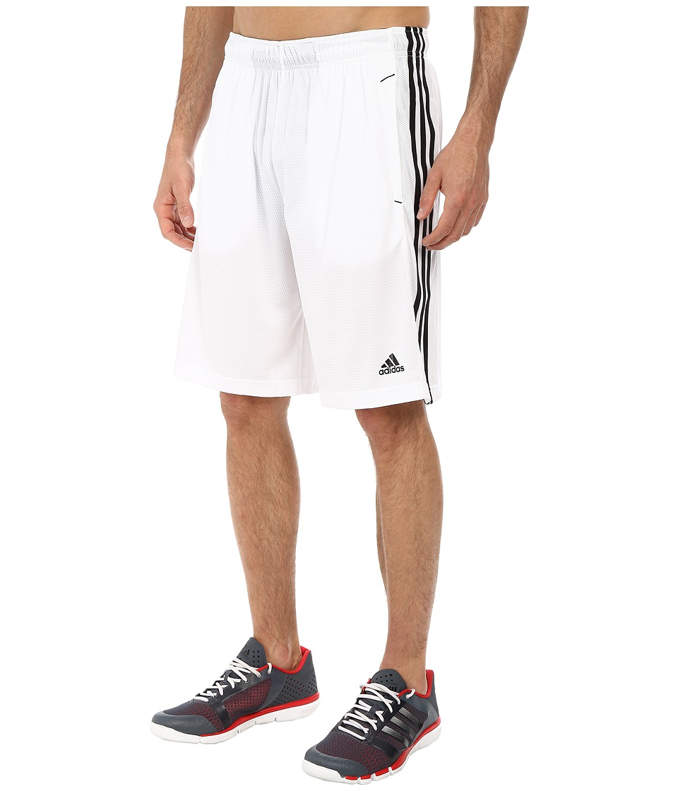 adidas - Essential 3S Shorts (White/Black) Men's Shorts