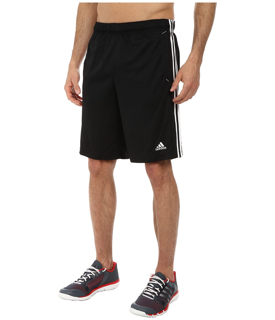 adidas - Essential 3S Shorts (Black/White) Men's Shorts