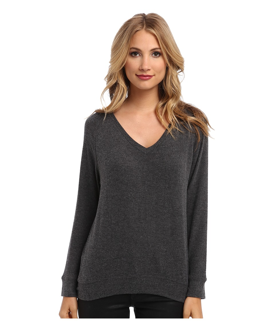 Velvet by Graham & Spencer - Magdalena02 L/S Pullover (Charcoal) Women's T Shirt