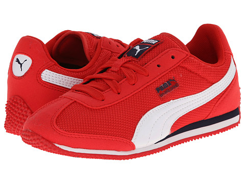 Puma Kids - Whirlwind Mesh Jr (Little Kid/Big Kid) (High Risk Red/ White/Peacoat) Boys Shoes