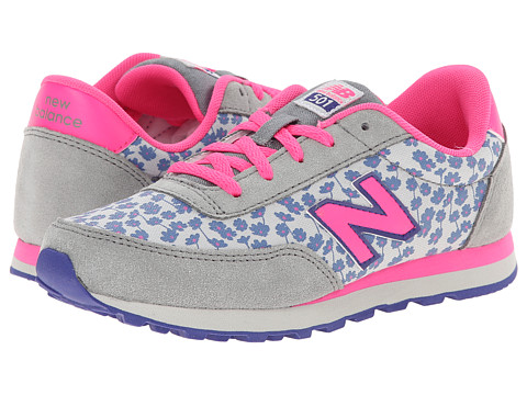 New Balance Kids - 501 (Little Kid/Big Kid) (Pink/Steel) Girls Shoes