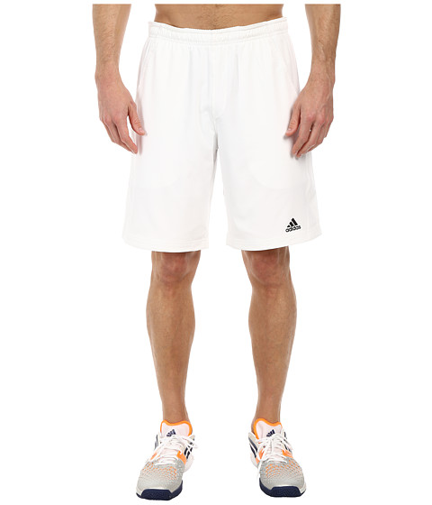 adidas - Tennis Sequencials Essex Short (White/Black) Men's Shorts