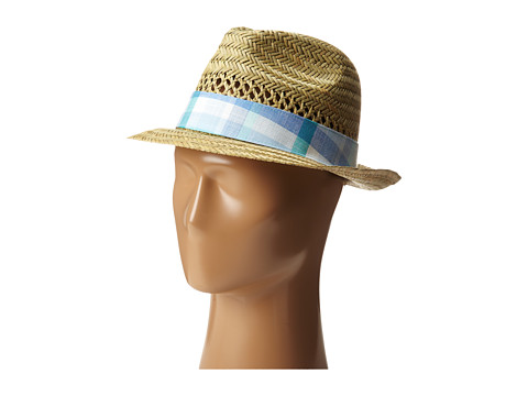 Columbia - Sun Drifter Straw Hat (Natural/Air Plaid) Traditional Hats