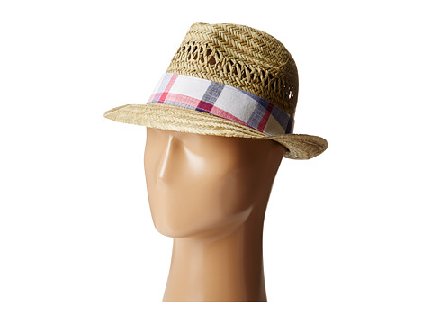 Columbia - Sun Drifter Straw Hat (Natural/Eclipse Blue Plaid) Traditional Hats