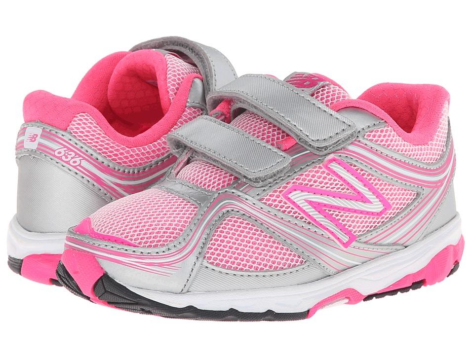 New Balance Kids - 636 (Infant/Toddler) (Pink/Grey) Girls Shoes