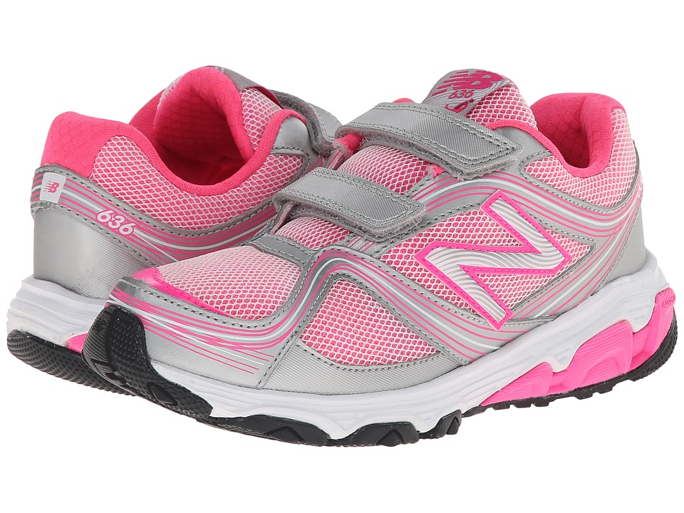 New Balance Kids - 636 (Little Kid) (Pink/Grey) Girls Shoes