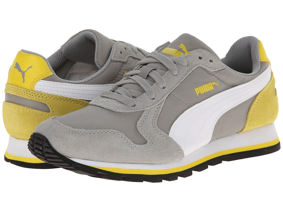 Puma Kids - ST Runner NL Jr (Little Kid/Big Kid) (Limestone Grey/White/Buttercup) Boys Shoes