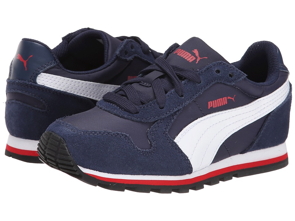 Puma Kids - ST Runner NL Jr (Big Kid) (Peacoat/White/High Risk Red) Boys Shoes