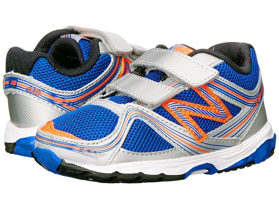 New Balance Kids - 636 (Infant/Toddler) (Silver/Blue) Boys Shoes