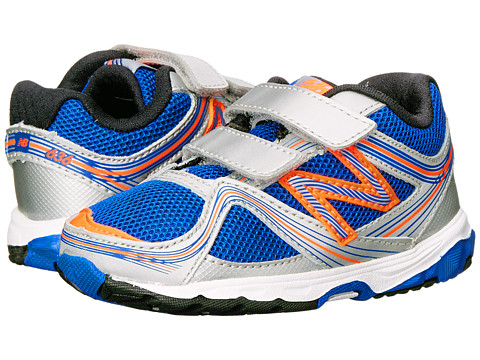 New Balance Kids - 636 (Infant/Toddler) (Silver/Blue) Boys Shoes