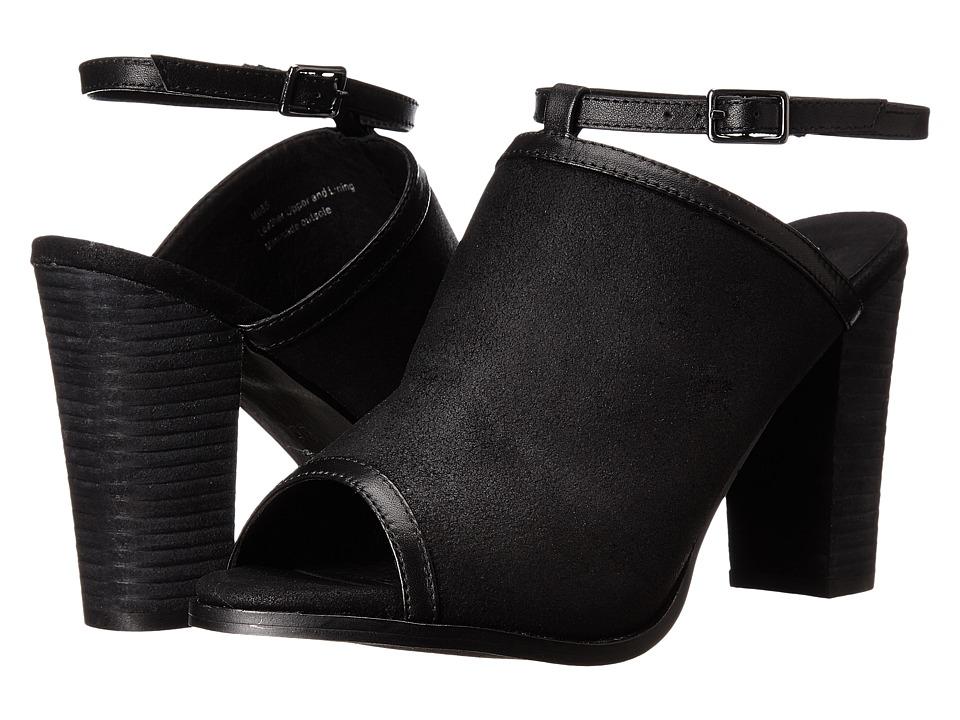 Rebels - Alberta (Black Leather) High Heels