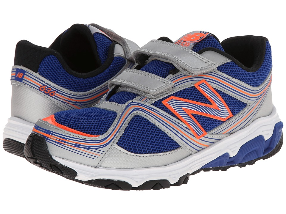 New Balance Kids - 636 (Little Kid) (Silver/Blue) Boys Shoes