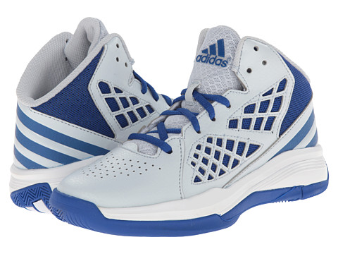 adidas Kids - Speedbreak K (Little Kid/Big Kid) (Clear Grey/White/Collegiate Royal) Boys Shoes