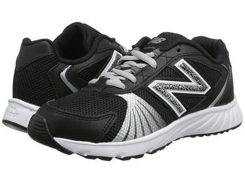 New Balance Kids - 555 (Little Kid/Big Kid) (Black/White) Boys Shoes