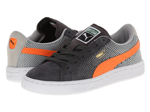 Puma Kids - Suede Shades Jr (Little Kid/Big Kid) (Dark Shadow/Grey Violet/Fluorescent Flash Orange) Boys Shoes