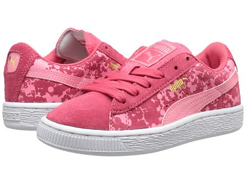 Puma Kids - Suede Speckle Jr (Little Kid/Big Kid) (Salmon Rose/Geranium) Girls Shoes