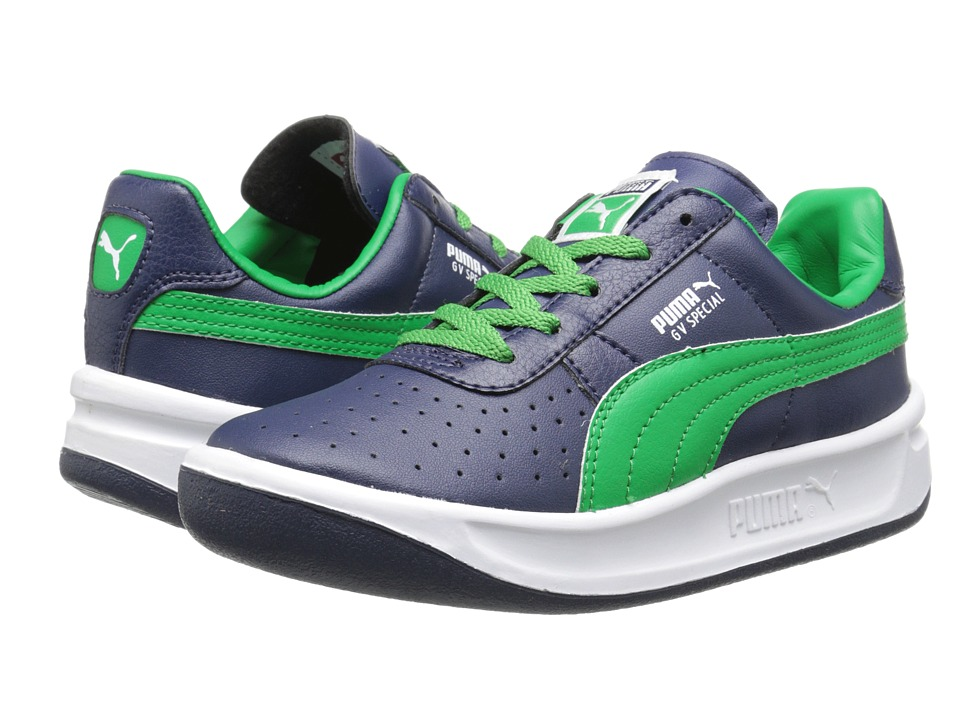 Puma Kids - GV Special Jr (Little Kid/Big Kid) (Peacoat/Fern Green) Kids Shoes