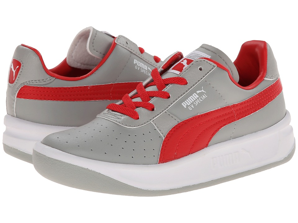 Puma Kids - GV Special Jr (Little Kid/Big Kid) (Limestone Grey/High Risk Red/White) Kids Shoes