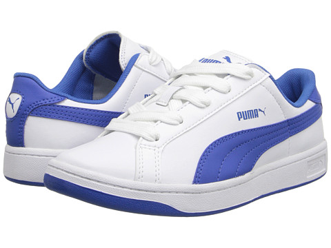 Puma Kids - Puma Smash L Jr (Little Kid/Big Kid) (White/Strong Blue) Boys Shoes