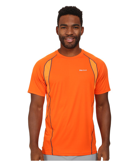 Marmot - Interval S/S (Blaze/Bright Orange) Men's Clothing
