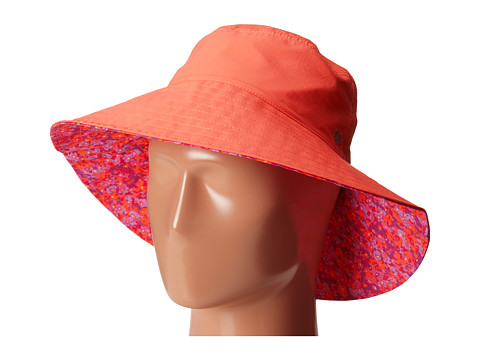 Columbia - Reversible Sun Goddess Bucket II (Coral Flame/Floral Print) Traditional Hats